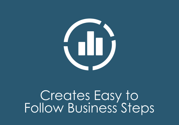 Creates easy to follow business steps