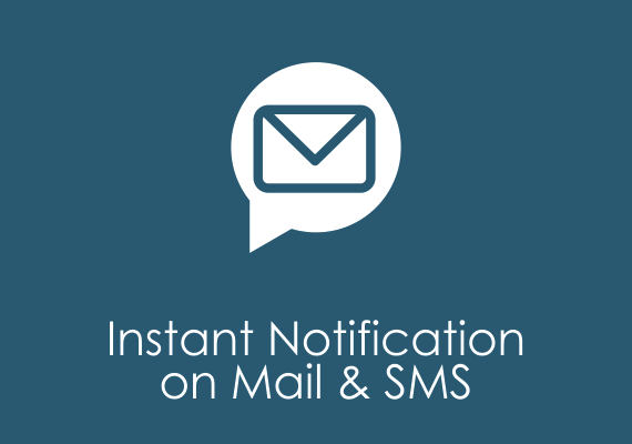 Instant notification on mail & sms