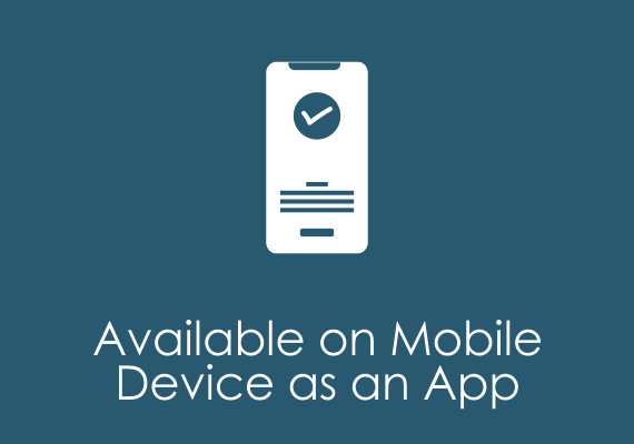 Available on Mobile Device as an App