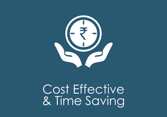Cost effective & time saving